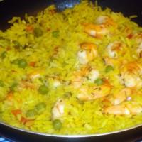 arroz con langostinos