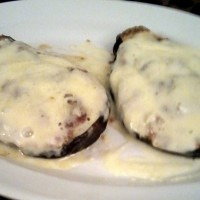 berenjenas rellenas gratinadas con queso fresco