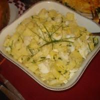 ensalada de papa huevo y ciboulette