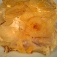 milhojas de papas y merluza