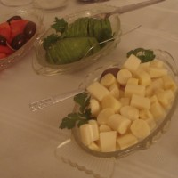 palta,palmito y tomate