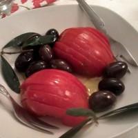tomate con olivas