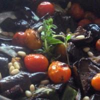 verduras grilladas con piñones