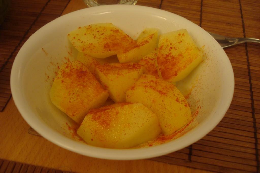 papas hervidas con pimentón