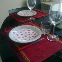mesa del dia de los enamorados