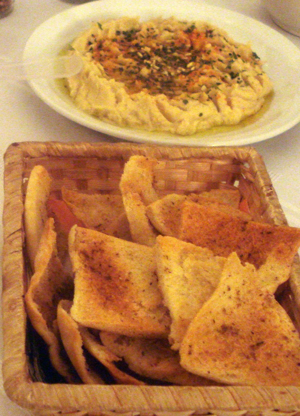hummus con pitachips
