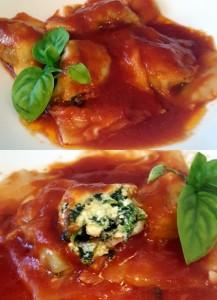 raviolon de ricota y espinaca