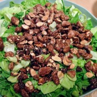 mix de verdes con frutos secos